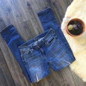 Kut from the Kloth skinny jeans lightly distressed